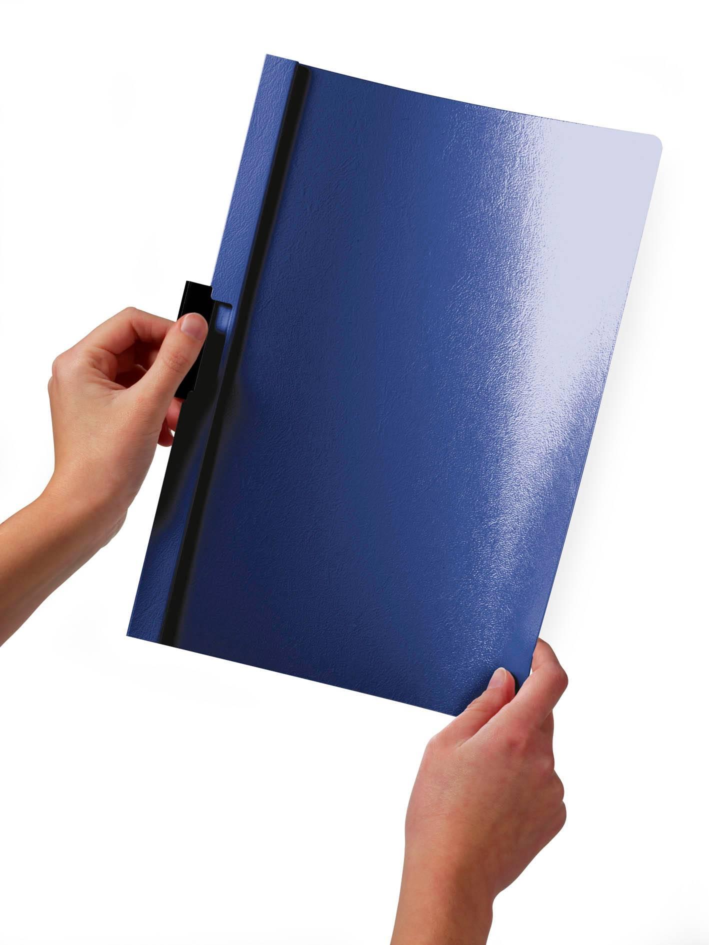 Папка-клип Durable Duraclip 30 с верхним прозрачным листом 1-30 листов темно-синяя - фото 1