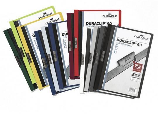 Папка-клип Durable Duraclip Original клип-черный max 60 страниц верхний лист прозрачный темно-синяя - фото 1