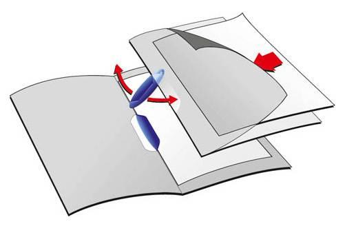 Папка-клип Durable Swingclip обложка прозрачная-матовая max 30 страниц А4 ассорти - фото 1
