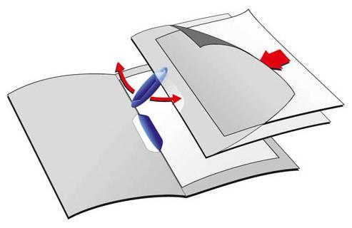 Папка-клип Durable Swingclip полупрозрачная с фигурным клипом 1-30 листов белый клип - фото 1