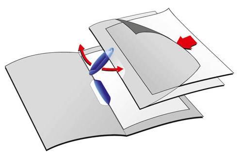Папка-клип Durable Swingclip полупрозрачная с фигурным клипом 1-30 листов красный клип - фото 1