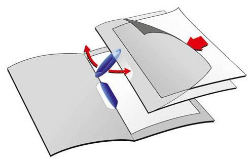 Папка-клип Durable Swingclip полупрозрачная с фигурным клипом 1-30 листов зеленый клип - фото 1