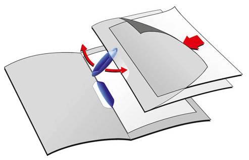 Папка-клип Durable Swingclip полупрозрачная с фигурным клипом 1-30 листов темно-синий клип - фото 1