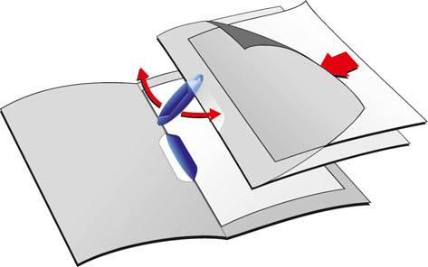 Папка-клип Durable Swingclip Color обложка пастельно матовая max 30 страниц ассорти - фото 1