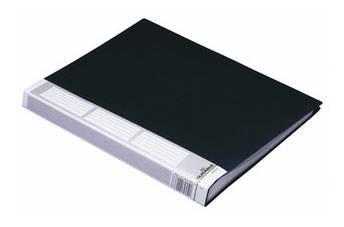 Папка Durable Duralook 50 листов-конвертов корешок 30 мм черный пластик - фото 1