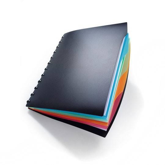 Папка Durable Duralook Style 20 съемных листов-конвертов 4 цветных разделителя черный  - фото 1