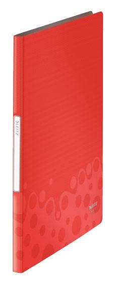 Папка Leitz Bebop А4/вкладышей:20/листов:40/пластик красный (компл.:1шт) (45640025) - фото 1