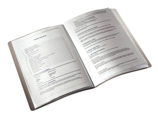 Папка Leitz Bebop А4/вкладышей:20/листов:40/пластик синий (компл.:1шт) (45640037) - фото 2