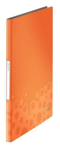 Папка Leitz Bebop А4/вкладышей:20/листов:40/пластик оранжевый (компл.:1шт) (45640045) - фото 1