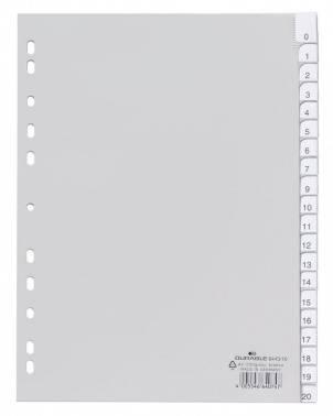 Разделитель индексный Durable 6443-10 A4 серые разделы