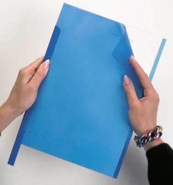 Скрепкошина Durable Spine Bars 2900-06 пластик 30листов 15х3мм синий