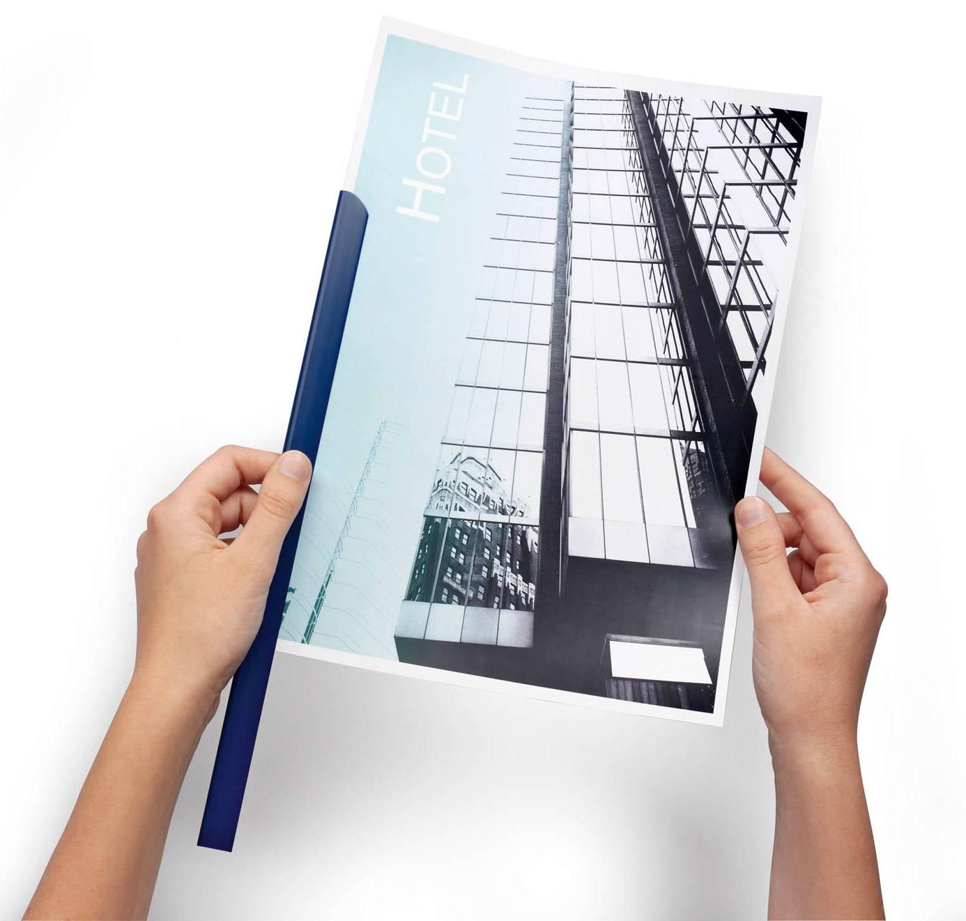 Скрепкошина Durable Spine Bars 2900-07 пластик 30листов 15х3мм темно-синий - фото 1