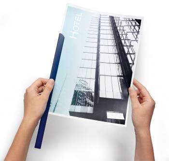 Скрепкошина Durable Spine Bars 2900-07 пластик 30листов 15х3мм темно-синий
