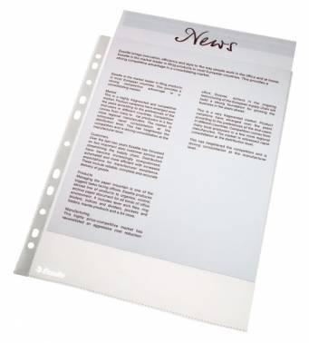Папка-вкладыш Esselte 56171 прозрачный А4 упаковка 100шт.