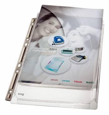 Папка-карман Esselte Leitz 47553003 прозрачный А4 упаковка 3шт.
