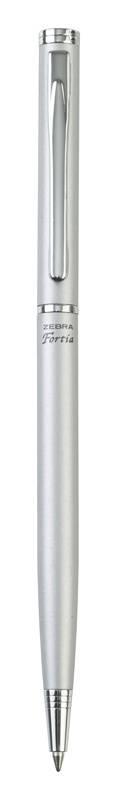 Ручка шариковая Zebra Fortia 500 хром (BA81-RS-BL) - фото 1