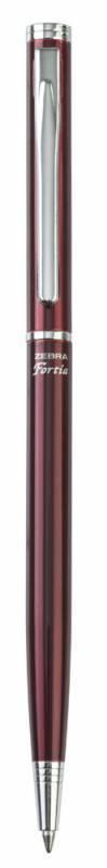 Ручка шариковая Zebra FORTIA 500 бордовый металлик (BA81-R-BL) - фото 1