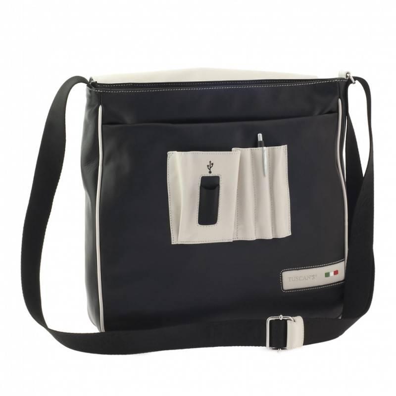 Сумка-планшет Tuscans TS-20000-029 черный/бежевый - фото 2
