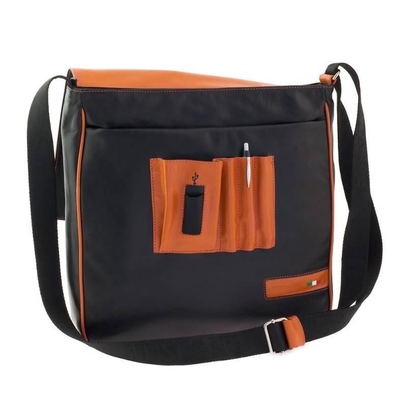 Сумка-планшет Tuscans TS-20000-087 черный/оранжевый - фото 3