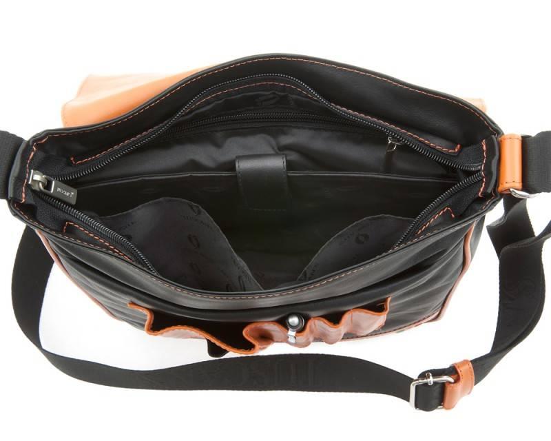 Сумка-планшет Tuscans TS-20000-087 черный/оранжевый - фото 4
