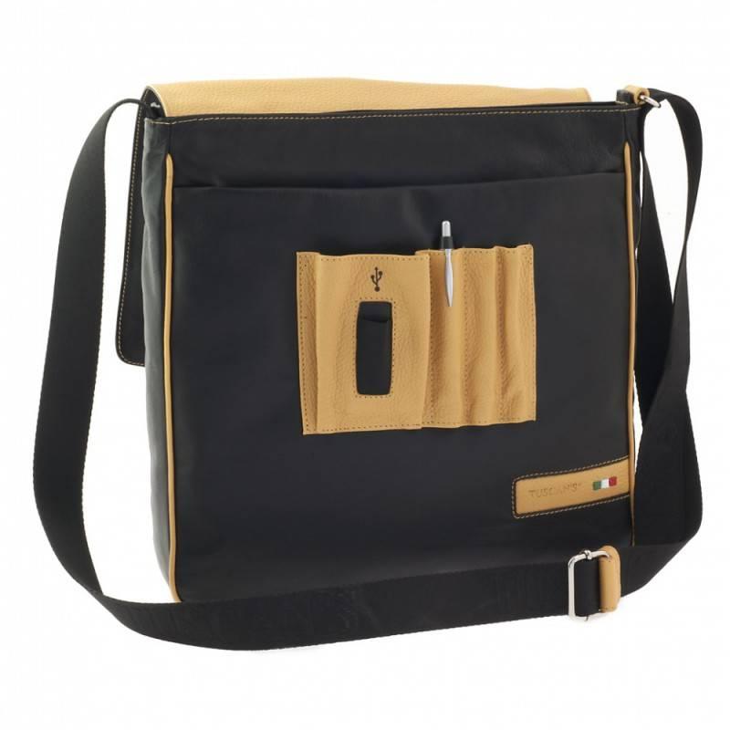 Сумка-планшет Tuscans TS-20000-092 черный/желтый - фото 2
