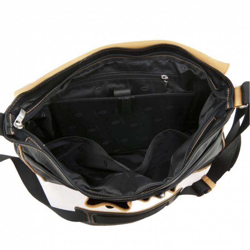 Сумка-планшет Tuscans TS-20000-092 черный/желтый - фото 3