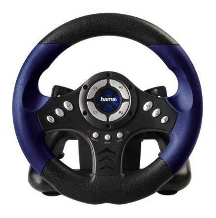 Джойстик Hama PC Racing Wheel(62865) черный - фото 1