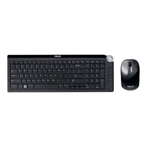 Комплект клавиатура+мышь Asus W4500 черный/черный - фото 1