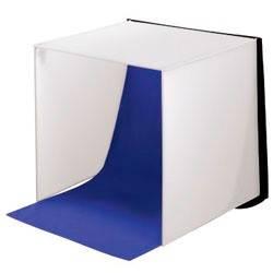 Фотостудия мобильная «Easy», 2 цвета фона (серый/синий), 40 х 40 см, складывается в чемоданчик толщиной 3 см, нейлон, Hama - фото 1
