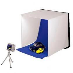 Фотостудия мобильная «Easy», 2 цвета фона (серый/синий), 40 х 40 см, складывается в чемоданчик толщиной 3 см, нейлон, Hama - фото 2