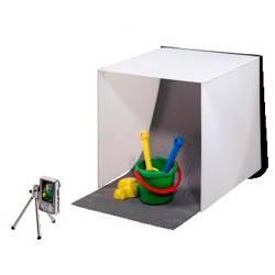 Фотостудия мобильная «Easy», 2 цвета фона (серый/синий), 40 х 40 см, складывается в чемоданчик толщиной 3 см, нейлон, Hama - фото 4