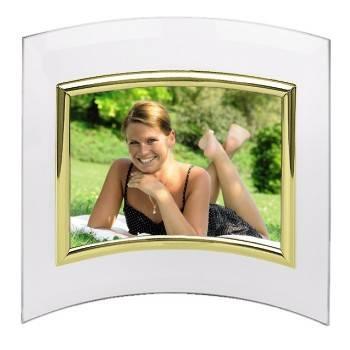 Фоторамка Hama H-100976 Alisea альбомная 10x15см полукруглая форма стекло золотистый  - фото 1