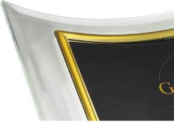 Фоторамка Hama H-63076 Brest для фото 13х18см портретная выпуклая стекло золотистое обрамление  - фото 3