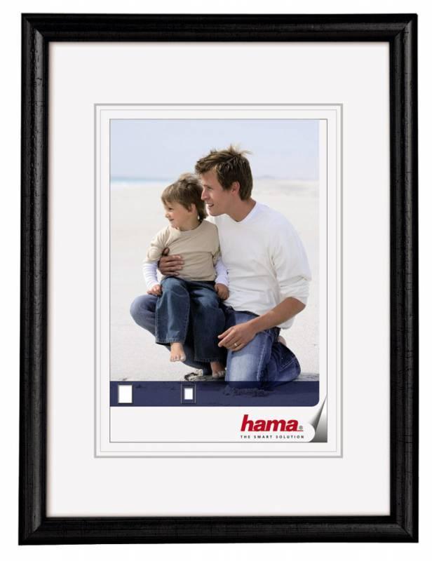 Фоторамка Hama H-64648 Oregon 15х20см паспарту 10х15см дерево черный  - фото 1