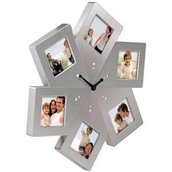 Фоторамка Hama H-65363 -часы Vienna 6 х 6.5 х 6.5 см металл серебристый  - фото 2