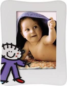 Фоторамка Hama H-65777 Jonas портретная 10х15см пластик белый рисунок мальчик  - фото 1