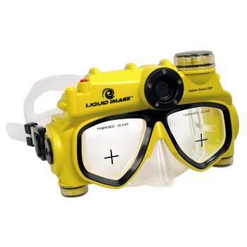 Маска с камерой Liquid Image H-118501 Маска для подв.плавания Explorer для фото-/видеосъемки желт  - фото 1