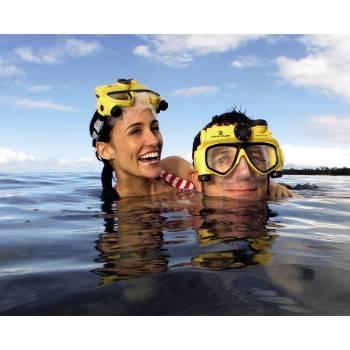 Маска с камерой Liquid Image H-118501 Маска для подв.плавания Explorer для фото-/видеосъемки желт  - фото 3