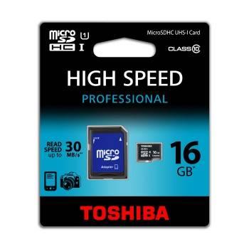 Карта памяти microSDHC 16Gb Class10 Toshiba SD-C016UHS1(6A