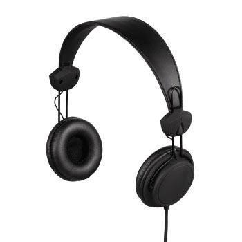 Наушники Hama Joy black 1,5m оголовье/позолоченные контакты (H-93074) - фото 1