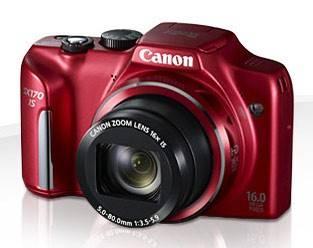 Фотоаппарат Canon PowerShot SX170 IS красный - фото 1