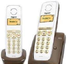 Телефон Gigaset A130 DUO коричневый / белый