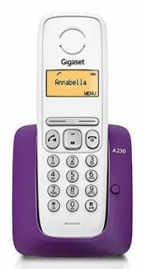 Телефон Gigaset A230 фиолетовый / белый