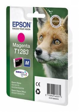 Картридж струйный Epson T1283 C13T12834011 пурпурный
