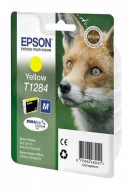 Картридж струйный Epson T1284 C13T12844011 желтый