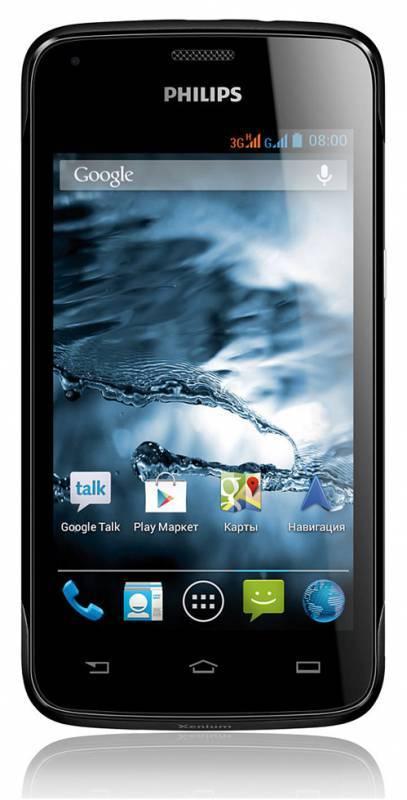 Смартфон Philips Xenium W3568 4ГБ черный/серый - фото 1