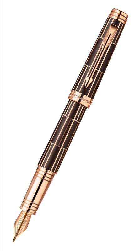 Ручка перьевая Parker Premier Luxury F565 (1876376) Brown PG - фото 1