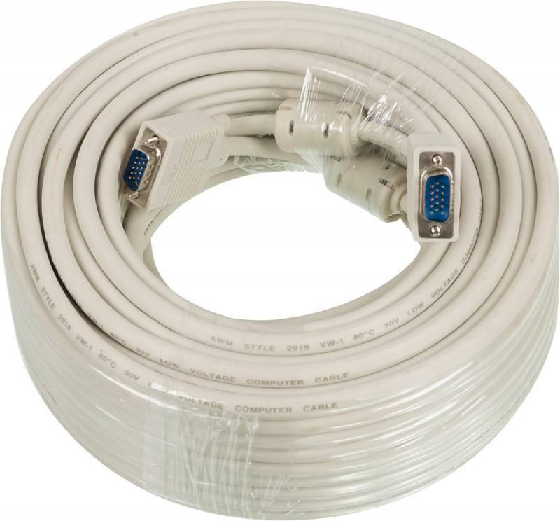 Кабель Ningbo CAB016S VGA (m)/VGA (m) 30м. - фото 1