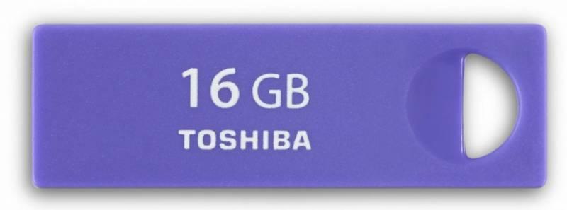 Флеш диск Toshiba TransMemory Enshu 16ГБ USB2.0 фиолетовый - фото 1