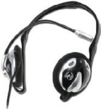 Наушники с микрофоном Ningbo HP-2415MV черный/серебристый - фото 1